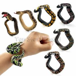 Funny Horror Prank Toys Australia - Fake Snake Novelty Toys Simulation Snake Resin Bracelet Scary Rattlesnake Cobra Horror Funny Birthday Party Toy Joke Prank Gifts
