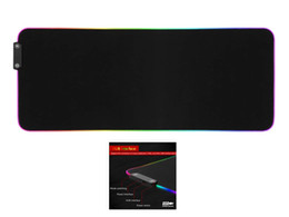 wrist rest for keyboard Canada - RGB Gaming Mouse Pad, LED Luminescence Soft Extra Extended Large Mouse Pad, Anti-Slip Rubber Base, Computer Keyboard Mouse Mat - 30x80 cm