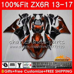 $enCountryForm.capitalKeyWord Australia - Injection For KAWASAKI NINJA ZX-636 ZX 6R 2013 2014 2015 2016 2017 32HC.63 ZX-6R ZX 636 600CC ZX6R 13 orange black 14 15 16 17 OEM Fairing