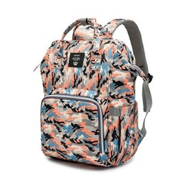 boys backpacks wholesale Canada - Camouflage Baby Diaper Bag Mummy Maternity Nappy Backpack Bags Large Capacity Pure Color Outdoor Travel Baby Nursing Bag Women Fashion Bag