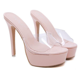 woman shoes sale NZ - Hot Sale-Sexy nude black trandparent clear heels luxury women designer shoes platform sandals ultra high heels 14cm size 34 to 40