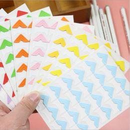 $enCountryForm.capitalKeyWord Australia - 72 pcs lot DIY Cute Pure Candy Color Corner kraft Paper Stickers for Photo Albums Frame Decoration Scrapbooking