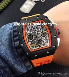 Luxury Automatic Watch Orange NZ - Hot sale Luxury 11-03 Orange Mens Watch Black Stainless Steel Oversize Date Automatic Sapphire Rubber Strap Luminous Sport Watches 4 Colors