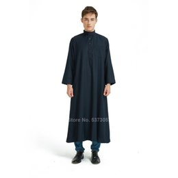 muslim arab clothes 2020 - Muslim Clothing for Men Arabic Clothes Adult Islamic Suit Abaya Dress Traditional Middle East Dubai Arab Jubba Thobe Rob