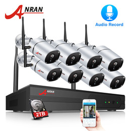 wireless indoor outdoor camera system 2019 - ANRAN 2MP Security Camera System Wireless 8Channel NVR Kit Wireless Home Security Camera System 1080P Indoors&Outdoors I