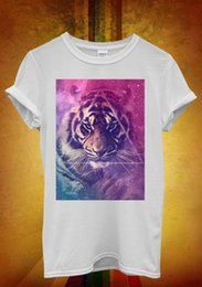 Tiger Tank T Shirts Australia - Galaxy Tiger Animal Leopard Space Men Women Unisex T Shirt Tank Top Vest 540 summer o neck tee custom printed tshirt
