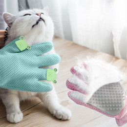 pet brush supplies cat NZ - Pet Dog Cat Hair Brush Gloves Clean Bath Massage Grooming Silicone Comb Supply Finger Cleaning Pet Supplies for Animal