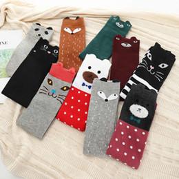 $enCountryForm.capitalKeyWord Australia - Children's Cartoon Socks Cotton Leg Warm Cute Girls Knee High Sock Joker Half Tube Socks Silk Fox Bear Pattern Knee-high Socks