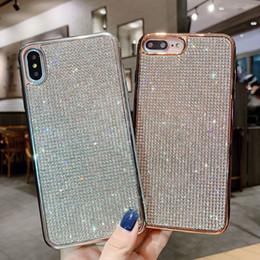 Blackberry Plate Australia - Glitter Plating Soft TPU Full Diamond Bling Case for iPhone XS MAX XR X 7 8 6 Plus Huawei P20 Lite Mate 20 Pro NOVA 2S 3 3i 4 Honor 10