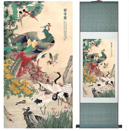 $enCountryForm.capitalKeyWord Australia - A Hundred Birds Are Paying Homage To A Phoenix Chinese Art Painting Home Office Decoration Chinese Paintingprinted Painting
