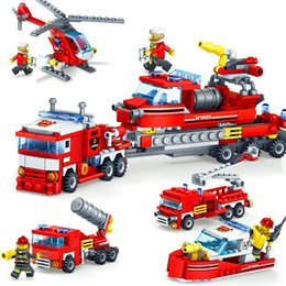 83pcs Firefighting Fire Helicopter Car Fireman Diy Building Blocks Compatible Legoings City Educational Bricks Toys For Children Street Price Toys & Hobbies Model Building