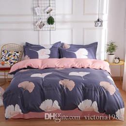 $enCountryForm.capitalKeyWord Australia - New Fashion bedding sets printing grid flamingos leaves duvet cover flat sheet Bedding Set Pastoral bed sheet AB side free shipping
