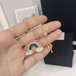 $enCountryForm.capitalKeyWord Australia - 2019 new 925 pure silver apm gold rainbow necklace cloud clavicle chain sweater necklace