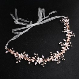 $enCountryForm.capitalKeyWord Australia - 2019 Luxury Crystals Headpieces For Wedding Handmade Hair Band With Tulle Belt For Fairy Girl Amazing Rose Gold Accessories For Bride