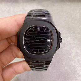 Limited Edition Movimento automático 5711 Men Watch cristal de safira Black Dial Relógio Masculino 316 Banda Inox frete grátis em Promoção