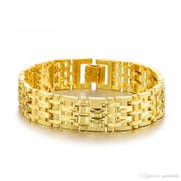 $enCountryForm.capitalKeyWord Australia - Supply of goods selling bracelets wholesale 18 k gold plated jewelry fashionable man gold bracelet