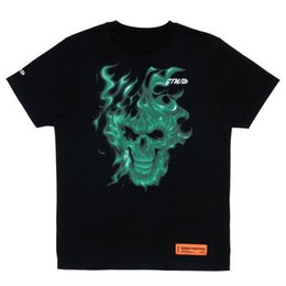 skull fashion trend 2019 - Mens designer trend tshirt brand skull casual tshirts fashion wild cotton tshirt top quality couple street t-shirt print