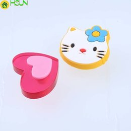 children handles knobs UK - Red Pink Love Heart Drawer Shoe Cabinet Knobs Pull Soft Plasticwhite Blue Cat Children Room Safety Furniture Handles Kids Knobs