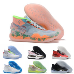 kds white basketball shoe 2019 - 2019 KD 12 EYBL Orange Foam Pink Paranoid Oreo ICE Basketball Shoes Kevin Durant XII KD12 Kds Mens Sports Trainers Sneak