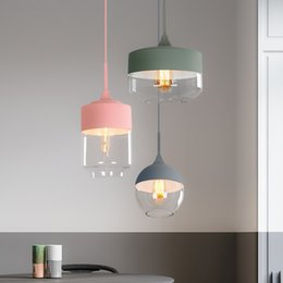 $enCountryForm.capitalKeyWord Australia - LED Nordic fixtures Modern dining room hanging lights Restaurant suspended lamps bedroom lighting Bar Cafe Glass Pendant Lights
