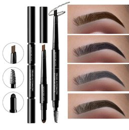 Multi color pen pencil online shopping - New Brand Multi functional Waterproof Makeup Eyebrow Pencils Long Lasting Pigments Black Brown Color Eye Brow Pen with Brush