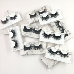 $enCountryForm.capitalKeyWord Australia - Wholesale 25mm 5D Mink Eyelashes with Rectangle Marble Case Full Strip Mink Lashes Dramatic Long Eyelash G-EASY