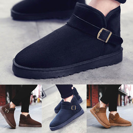 high ankle boys shoes 2019 - 2019 fashion men women winter warm high heel shoes classic snow boots black blue yellow brown gery flat ankle boots size