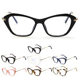 sexy women eyeglasses 2019 - Women Retro Sexy Eyeglasses Frame Fashion Cat Eye Clear Lens ladies Eye Glasses cheap sexy women eyeglasses