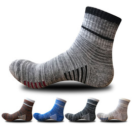 Discount 18 bicycle - 5-Pairs New Ankle-high Sport Socks 18 For Men Athletic Running Bicycling Calcetines Socken Sweat Absorbent