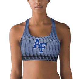 $enCountryForm.capitalKeyWord Australia - Colorado Air Force Falcons football Blue 100% Polyester Fiber Vest Breathable Top Quick-Drying Yoga Bra Shaping Seamless Yoga Vest