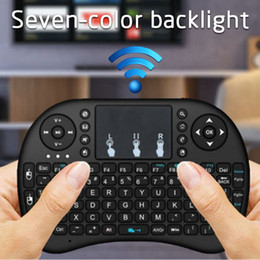 $enCountryForm.capitalKeyWord Australia - i8 2.4Ghz Luxury Wireless Keyboard 3 Color Backlight + 7 Colorful Light English Russian French Spanish Remote Control Touchpad