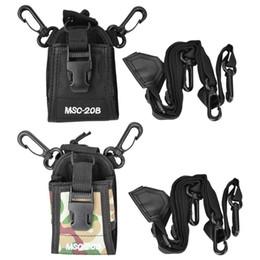 Case For Walkie Australia - MSC-20B Two Way Radio Portable Nylon Shoulder Strap Belt Case Holder Bag Pouch for Walkie Talkie