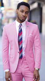 $enCountryForm.capitalKeyWord NZ - 2019 Latest Hot Pink Suit Men Blazer Wedding Groom Men Suit With Pants Formal Prom Slim Fit Tuxedo Jacket Terno Masculino Custom
