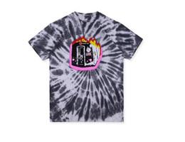 $enCountryForm.capitalKeyWord Australia - New Travis ScottTravis Burning Train Barclays Net Red Graffiti Tie Dye Tee Short Sleeve Round T-shirt TEE Color Rendering Short Sleeve Size