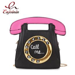 $enCountryForm.capitalKeyWord Australia - Funny Personality Fashion Phone Design Letters Ladies Pu Leather Handbag Chain Purse Shoulder Bag Crossbody Messenger Bag Flap Y19062003
