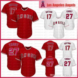 cb263267538 Cheap embroidery free online shopping - Embroidery Shohei Ohtani Mike Trout  Los Angeles Baseball Jerseys Angels