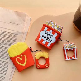 pouch for headphones UK - Lovely Chips Cartoon Shape Earphone Pouch for airpod case Wireless Bluetooth Headphone Anti-drop Protective for Apple air pod case