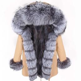 $enCountryForm.capitalKeyWord Australia - 2019 Long Parka Winter Jacket Women Real Fox Natural Raccoon Fur Collar Coat Thick Warm Outerwear Streetwear Detachable