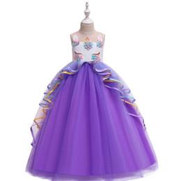 $enCountryForm.capitalKeyWord UK - unicorn tutu customes fashion baby kids gown Girls lace princess dress children mesh long skirt wedding flower girl pettiskirt girls frocks