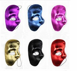 phantom opera party mask Australia - 2019 half face mask Phantom of the Opera - right half of the face cloth Party mask free shipping