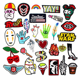 $enCountryForm.capitalKeyWord Australia - Fashion Cool Cartoon Patches for Girl's Clothes Jacket Jeans Embroidered Patch Iron on Badge Stickers Sewing Supplies