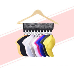 Portable closets wholesale online shopping - Portable Cap Rack Closet Hanger Sock Storage Caps Organizer Door Baseball Hat Storage Holder K176