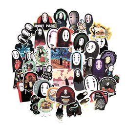 Bicycle figures online shopping - 40 No Face Man Spirited Away Series Stickers For Notebook PC Skateboard Bicycle Motorcycle Car DIY Waterproof Toy Sticker