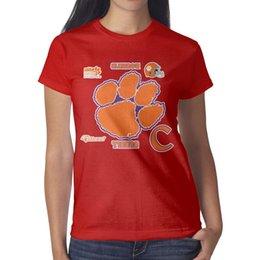 Tigers T Shirts Australia - Clemson Tigers Logo Women's Tees Classic Running Designer T Shirts Printing Round Neck Shirts Black Woman T Shirt