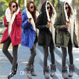 $enCountryForm.capitalKeyWord Australia - New Nice Winter Jacket Womens Parkas Red Large Fur Collar Hooded Coat Women Long Thick Cotton-padded Coats Outwear