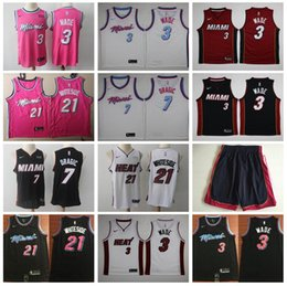 a923dc20e576 Miami Vice City Earned Edition Dwyane 3 Wade Jersey Heat Basketball Goran 7  Dragic Hassan 21 Whiteside Jerseys Short Red Black White