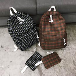 Style Backpacks Australia - Fashion Women Backpack Student Girl School Bag New Travel Bag Plaid Style Shoulder Bag For Women 2019 Bagpack Rucksack Knapsack Y19061004