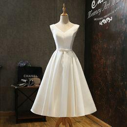vestido festa longo long evening dress 2019 - Explosive White Elegant Satin Mid-length Evening Dress Long Vestido De Festa Longo Dresses Size 18 Formal Dresses Evenin