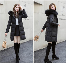 Wholesale real fur hooded woman parka for sale - Group buy Women Winter Jacket Ladies Real Raccoon Fur Collar Duck Down Inside Warm Coat Femme With All The Tag Slim Fit Outdoor Parka