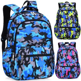 2019 Camouflage Strawberry Polka Dot Girl Boy Children Primary School bag  Bagpack Schoolbags Kids Teenagers Student Backpacks 4df869a38365c